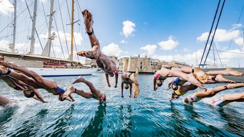 I campioni del Triathlon in gara a Malta