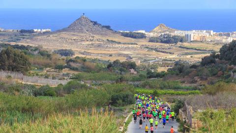 Tra la natura di Gozo per la mezza maratona di primavera