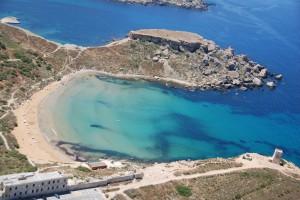 Ghajn Tuffieha Bay Aerial View, fotografia Malta