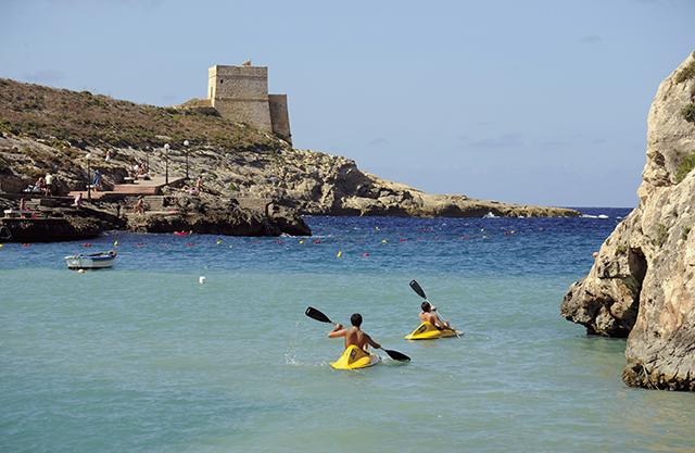 Guida agli itinerari in kayak a Malta e Gozo