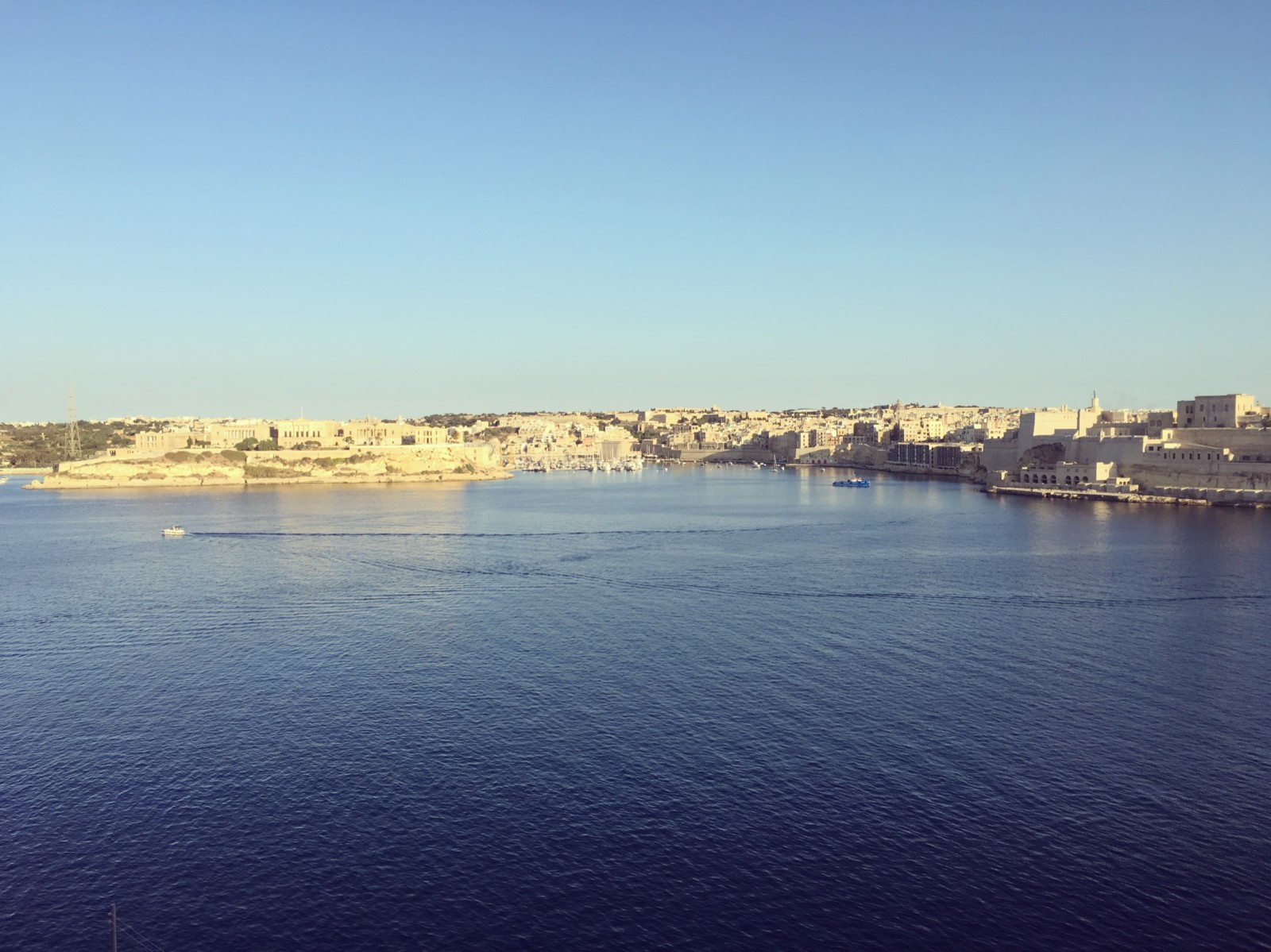 Vista delle Three Cities da La Valletta