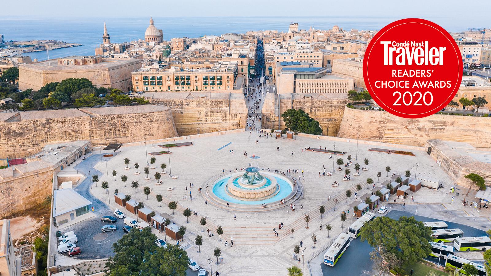 Valletta premiata dai viaggiatori di Condé Nast