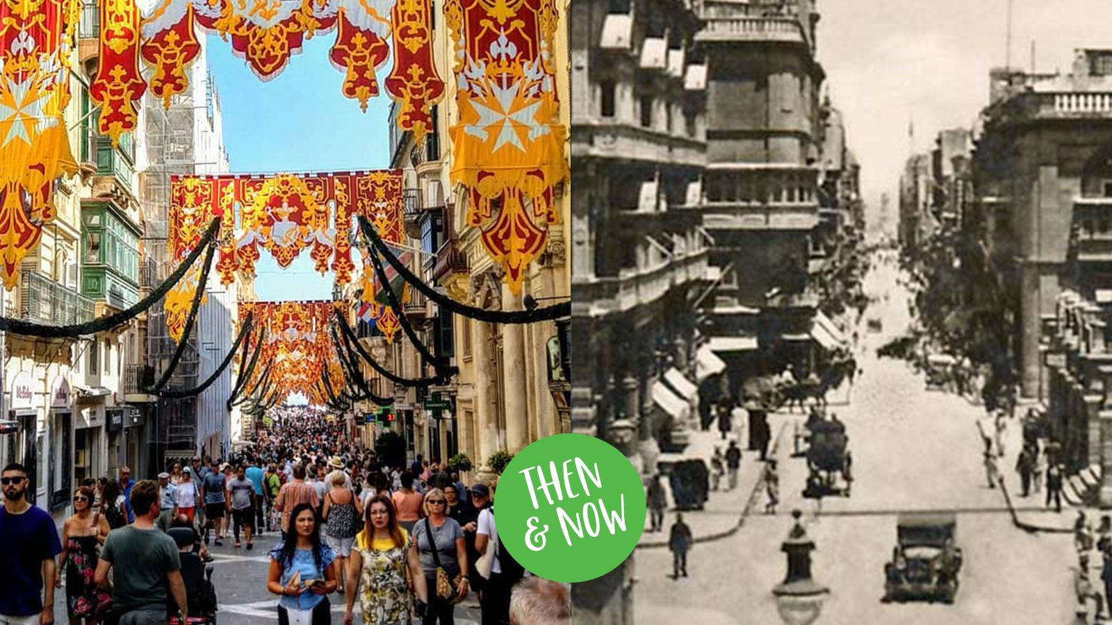 Valletta then & Now republic Street