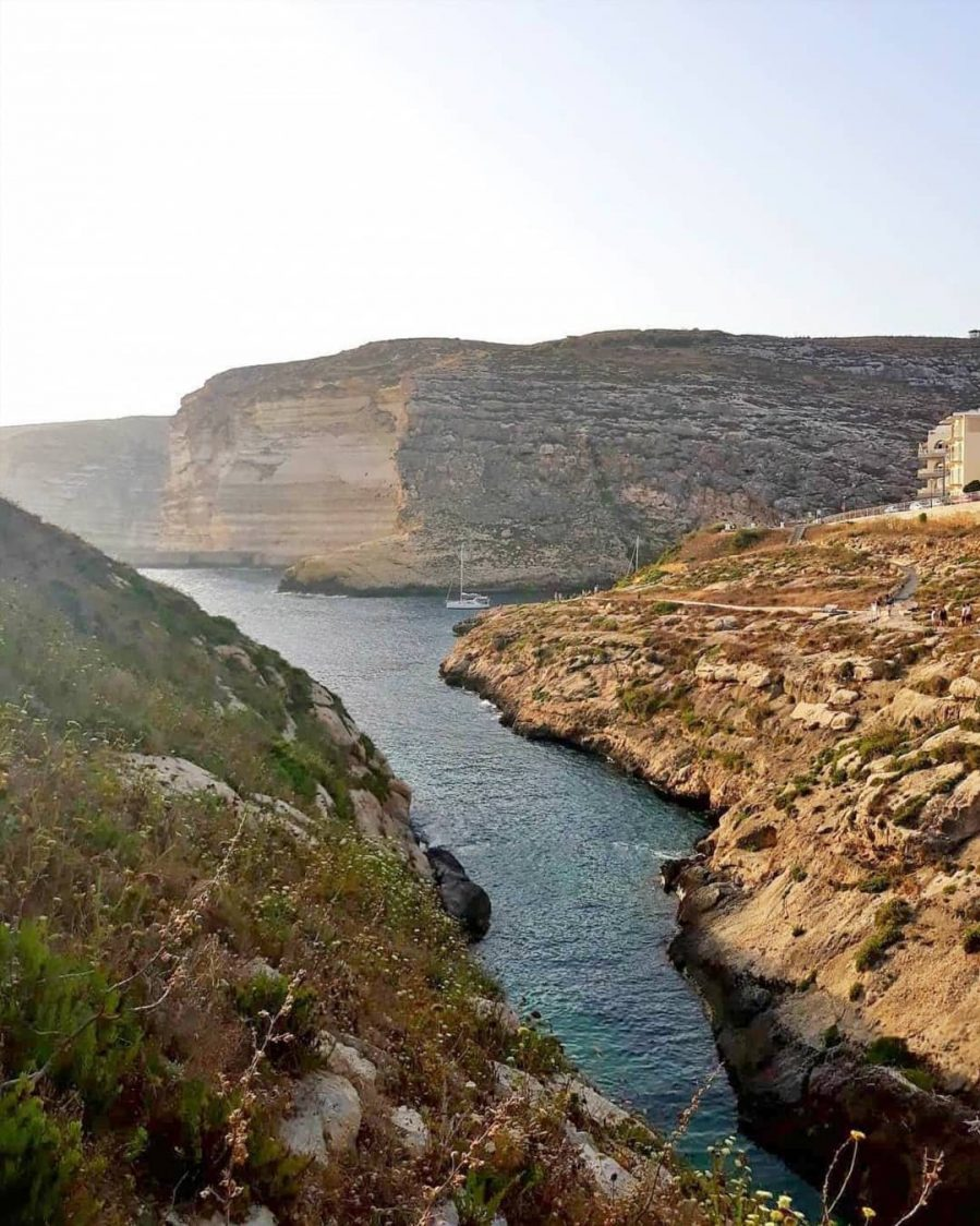 Xlendi Cliffs Malta Gozo